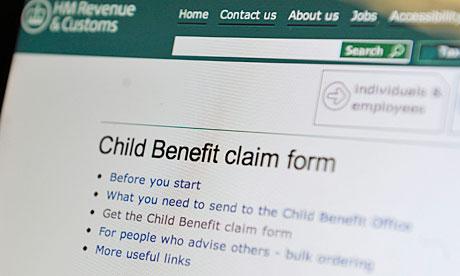 Child Benefit Form 2013 Child benefit claim form