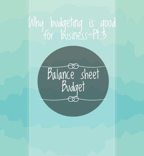 Balance Sheet Budget